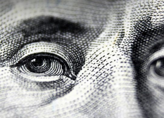 Closeup photo of US Currency